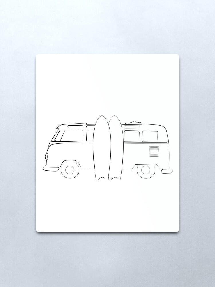 Alternate view of Surfer Vanlife Series Metal Print