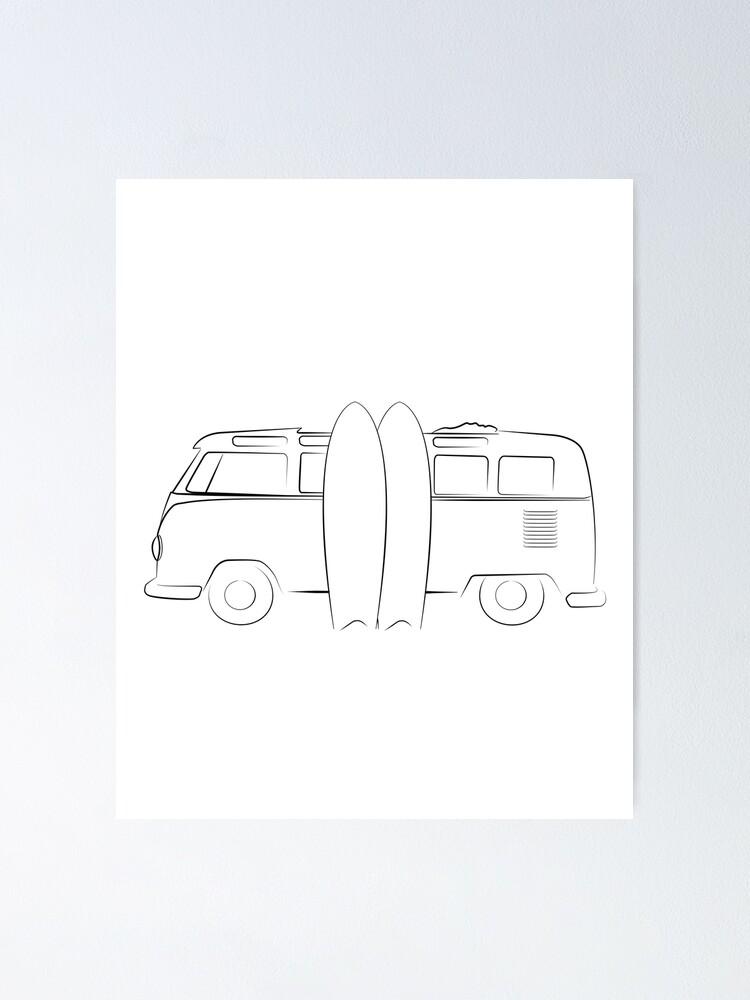 Alternate view of Surfer Vanlife Series Poster
