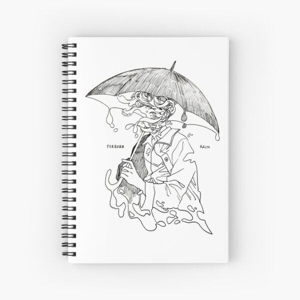 forever rain - mono  Spiral Notebook