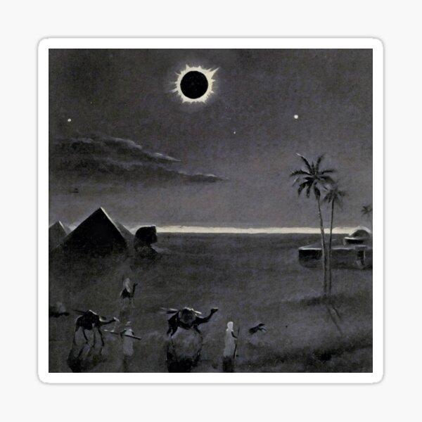 Eclipse over Egypt by Bruno Hans Bürgel 1911 Sticker