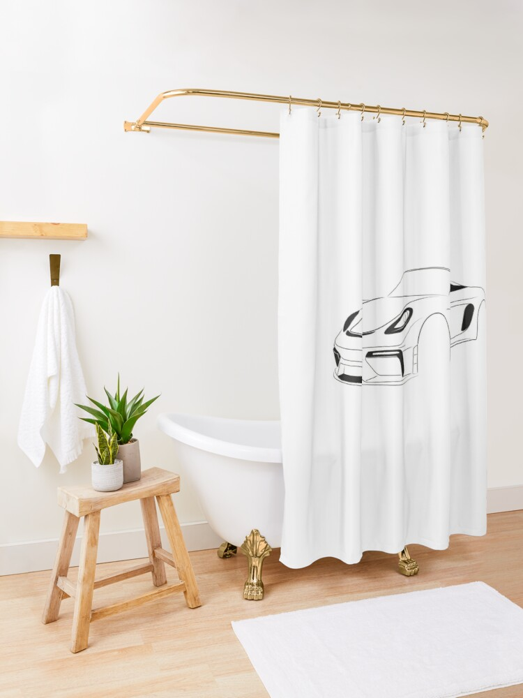 Alternate view of SPYDER Series Two Shower Curtain