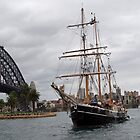The Tall Ship & Sydney Harbour Bridge by Adrian Paul