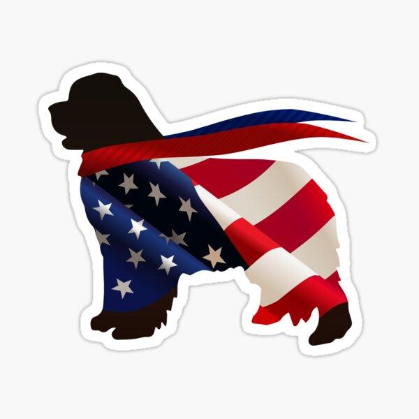 Patriotic Newfie Sticker