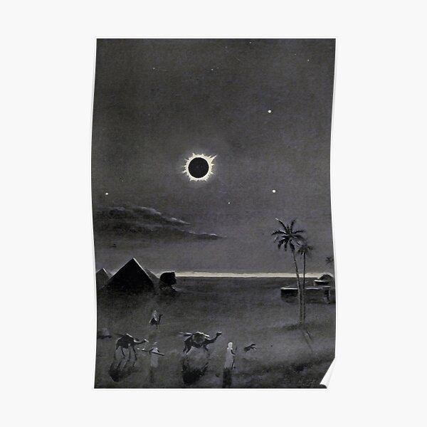 Eclipse over Egypt by Bruno Hans Bürgel 1911 Poster