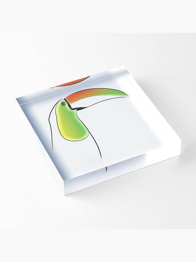 Alternate view of PuraVida Toucan Series Acrylic Block