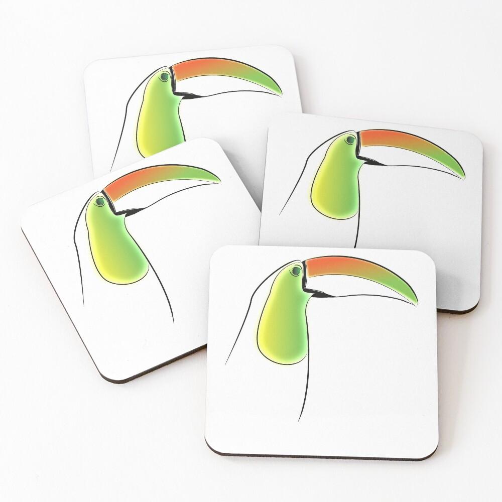 PuraVida Toucan Series Coasters (Set of 4)