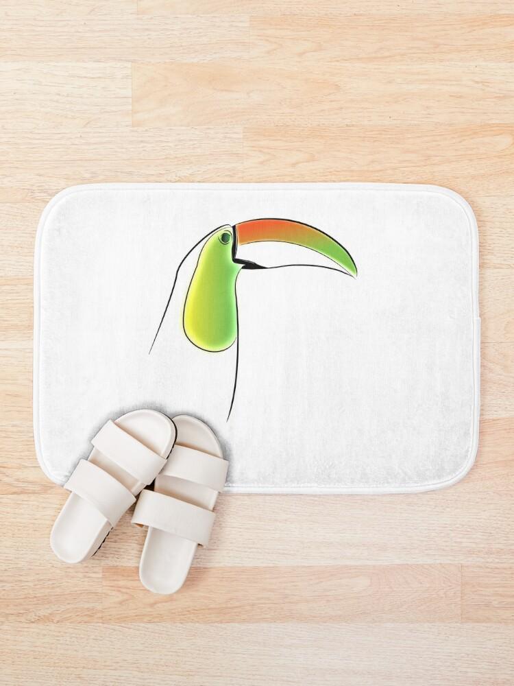 Alternate view of PuraVida Toucan Series Bath Mat