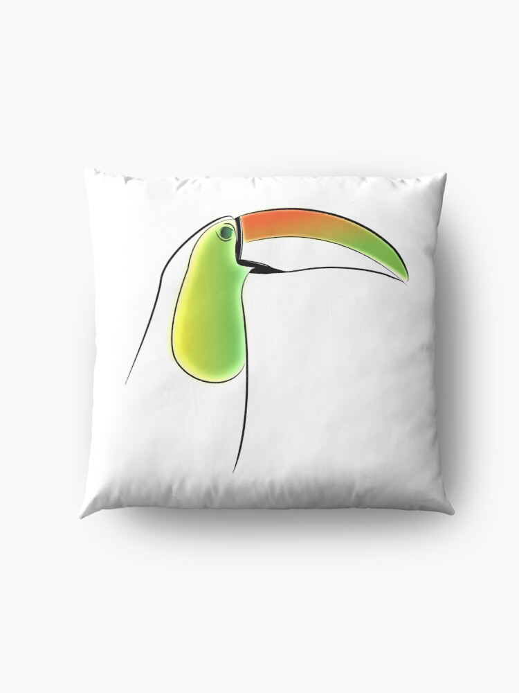 Alternate view of PuraVida Toucan Series Floor Pillow