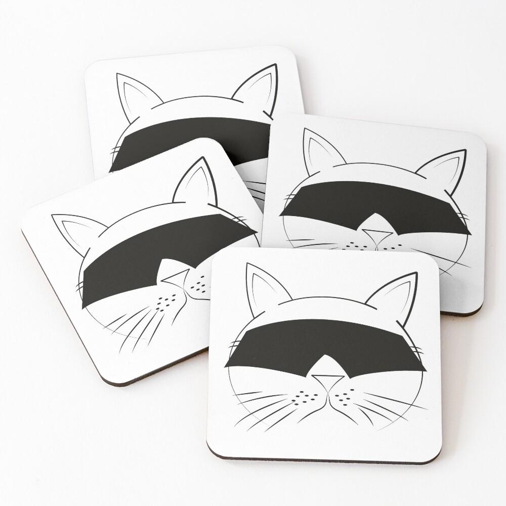 COOL Cat Series Coasters (Set of 4)