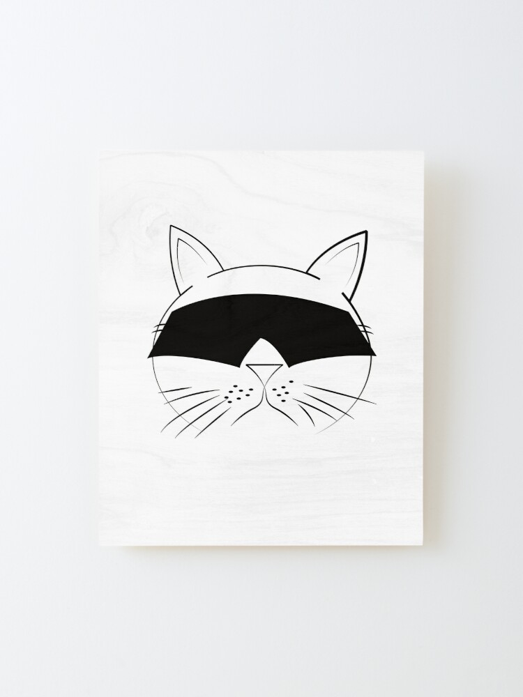Alternate view of COOL Cat Series Mounted Print