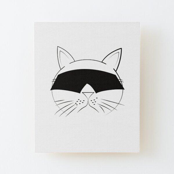 COOL Cat Series Wood Mounted Print