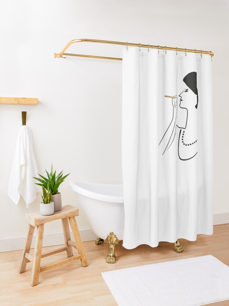 Alternate view of So CLASSY! Shower Curtain
