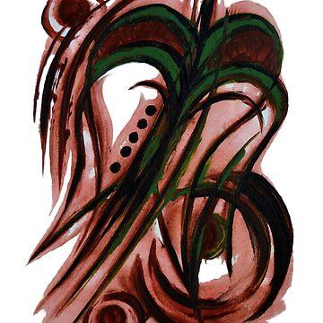 Green flower by Buatshini