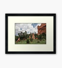 Garden of the Gods and Clouds Framed Print