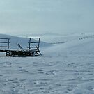 Trailer in the Snow by Tom Carswell