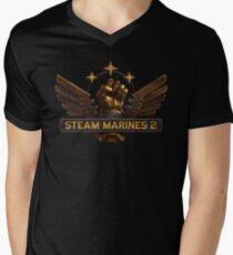 Steam Marines 2 - Logo Men's V-Neck T-Shirt