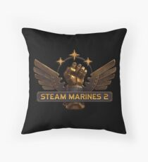Steam Marines 2 - Logo Throw Pillow