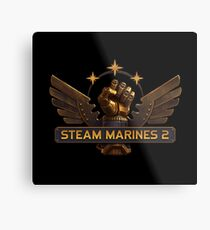 Steam Marines 2 - Logo Metal Print