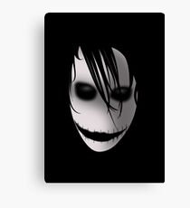 Scary Blurry Face Canvas Print