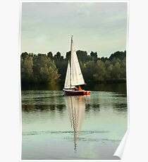 A beautiful evening on the lake Poster