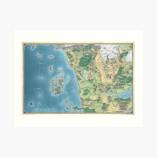 Map of the sword coast Art Print