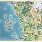 Map of the sword coast by savorok