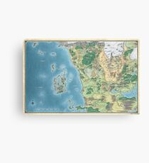Map of the sword coast Canvas Print