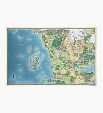 Map of the sword coast Photographic Print