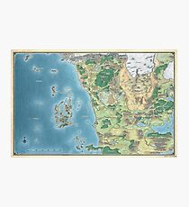 Karte der Schwertküste Fotodruck