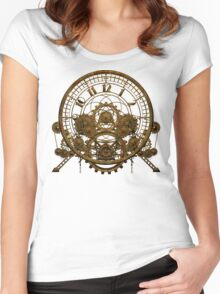 Vintage Steampunk Time Machine #1 Women's Fitted Scoop T-Shirt