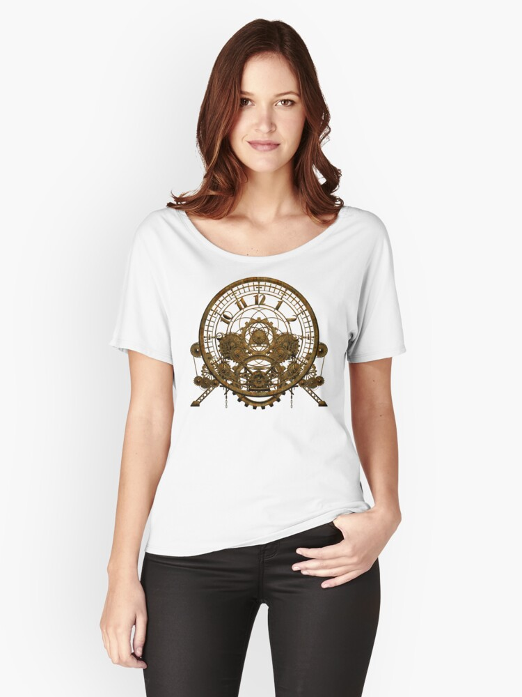 Vintage Steampunk Time Machine #1 Women's Relaxed Fit T-Shirt Front