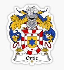 Ortiz Coat of Arms/Family Crest Sticker