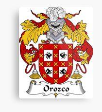 Orozco Coat of Arms/ Orozco Family Crest Metal Print