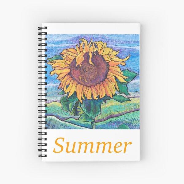 Summer Moderna Sunflower Spiral Notebook