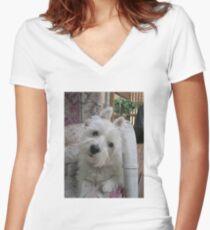 Summer Winnie Women's Fitted V-Neck T-Shirt