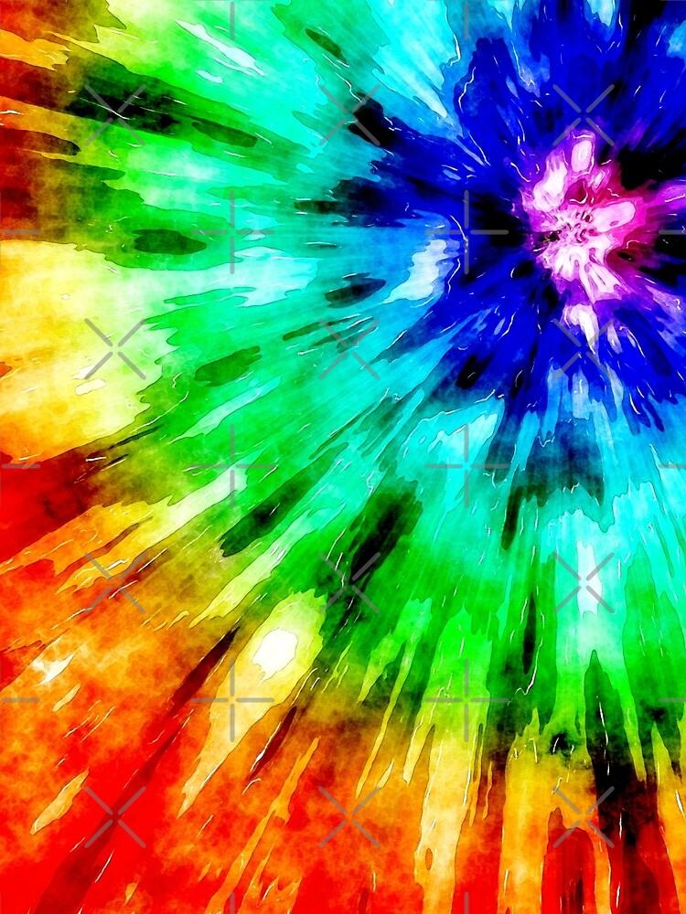 Tie Dye Meets Watercolor by perkinsdesigns