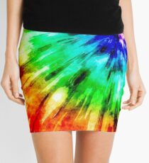 Tie Dye Meets Watercolor Mini Skirt