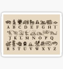Sea Monster Alphabet Sticker