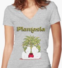 Mort Garson - Plantasia Women's Fitted V-Neck T-Shirt