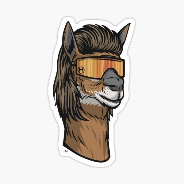 Llama Mullet Sticker