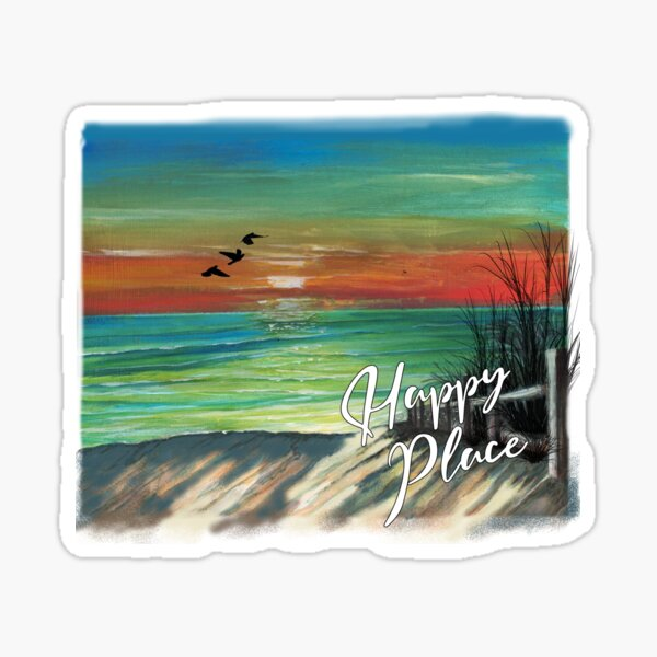 Happy Place By the Seaside Sticker
