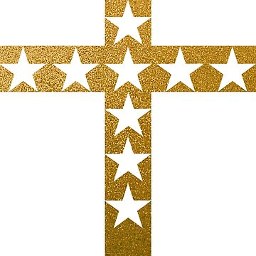 White and Gold Cross Design by jhaijhai