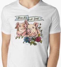 'Friends, not Food' Pig Veggie Vegan Illustration T-Shirt