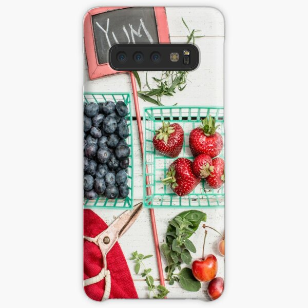 Blueberries, Cherries, Basil Still Life Samsung Galaxy Snap Case