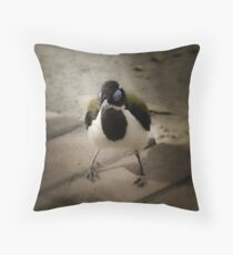 Blue Faced Honey Eater Throw Pillow
