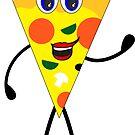PIZZA SLICE WAVING PEPERONI MUSHROOM PEPPERS by MyHandmadeSigns
