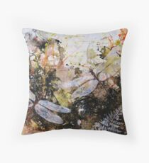 Rainforest and Dragonfly Throw Pillow