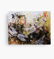 Rainforest and Dragonfly Canvas Print