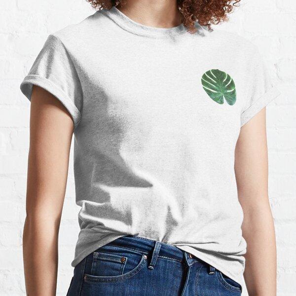 Polygonal mostera deliciosa leaf emblem Classic T-Shirt