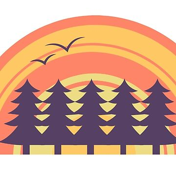 Sunset forest by LoaMoa